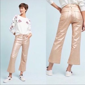 Pilcro And The Letterpress Gold Flare Pants